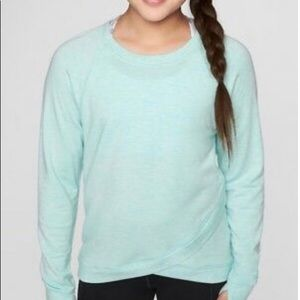 Athleta Girls crisscross sweatshirt.  Size XL/14